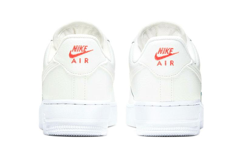 Nike Air Force 1 Summit White Solar Red CT1989101 menswear streetwear fall winter 2020 collection fw20 shoes sneakers footwear kicks trainers runners