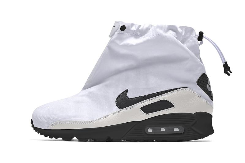 nike air max 90 by you unlocked ripstop shroud release information details black white grey camouflage desert transitional