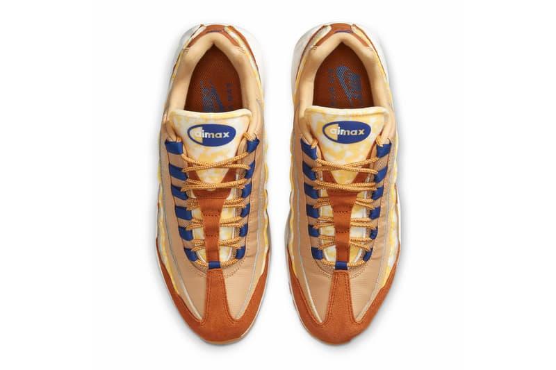Nike Air Max 95 Twine Tawny Deep Royal Blue Sail CU1560 700 menswear streetwear fall winter 2020 collection fw20 sneakers shoes kicks trainers runners footwear
