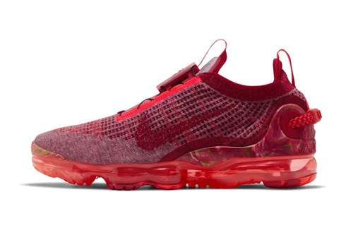 """Nike's Air VaporMax 2020 FlyKnit Gets Fully Dressed in """"Team Red"""""""