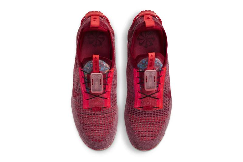 Nike Air VaporMax 2020 FlyKnit Team Red Lightning Crimson Fitness Red CT1823 600 menswear streetwear fall winter 2020 collection fw20 kicks shoes sneakers