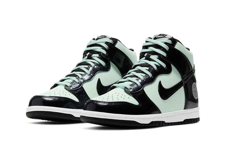 nike dunk high all star 2021 nba black mint indiana DD1846-300 release info photos