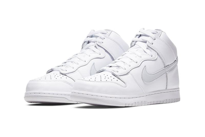 "Nike Dunk High ""Pure Platinum"" cz8149-101 Sneaker Release Information Drop Date Cop Online Shop Footwear Swoosh SB Skateboarding Basketball Triple White Clean"