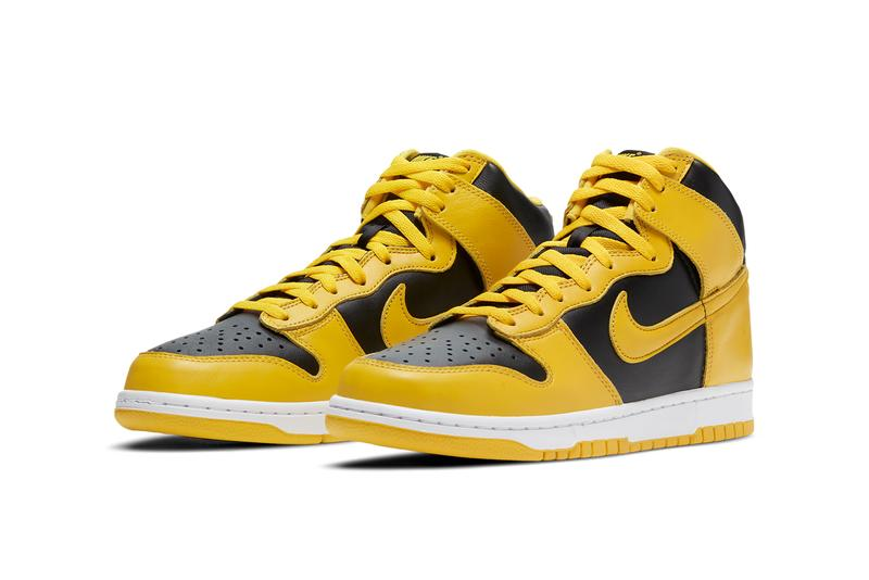 nike sportswear dunk high varsity maize black be true to your school iowa cz8149 002 official release date info photos price store list buying guide