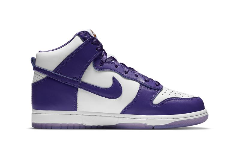 nike sportswear dunk high varsity purple white gold dc5382 100 womens official release date info photos price store list buying guide