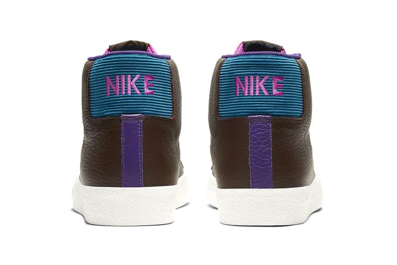 Nike SB Zoom Blazer Mid Premium Baroque Brown CU5283 201 info menswear streetwear footwear shoes sneakers kicks trainers runners