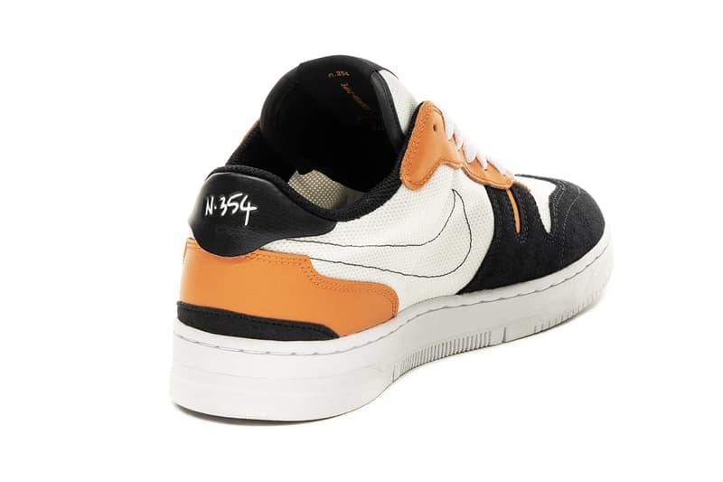 """Nike Squash-Type N. 354 """"Summit White / Dark Obsidian / Alpha Orange"""" CJ1640 101 Shattered Backboard Colorway SBB Sneaker Trainer Shoe Footwear Drop Date Release Information"""