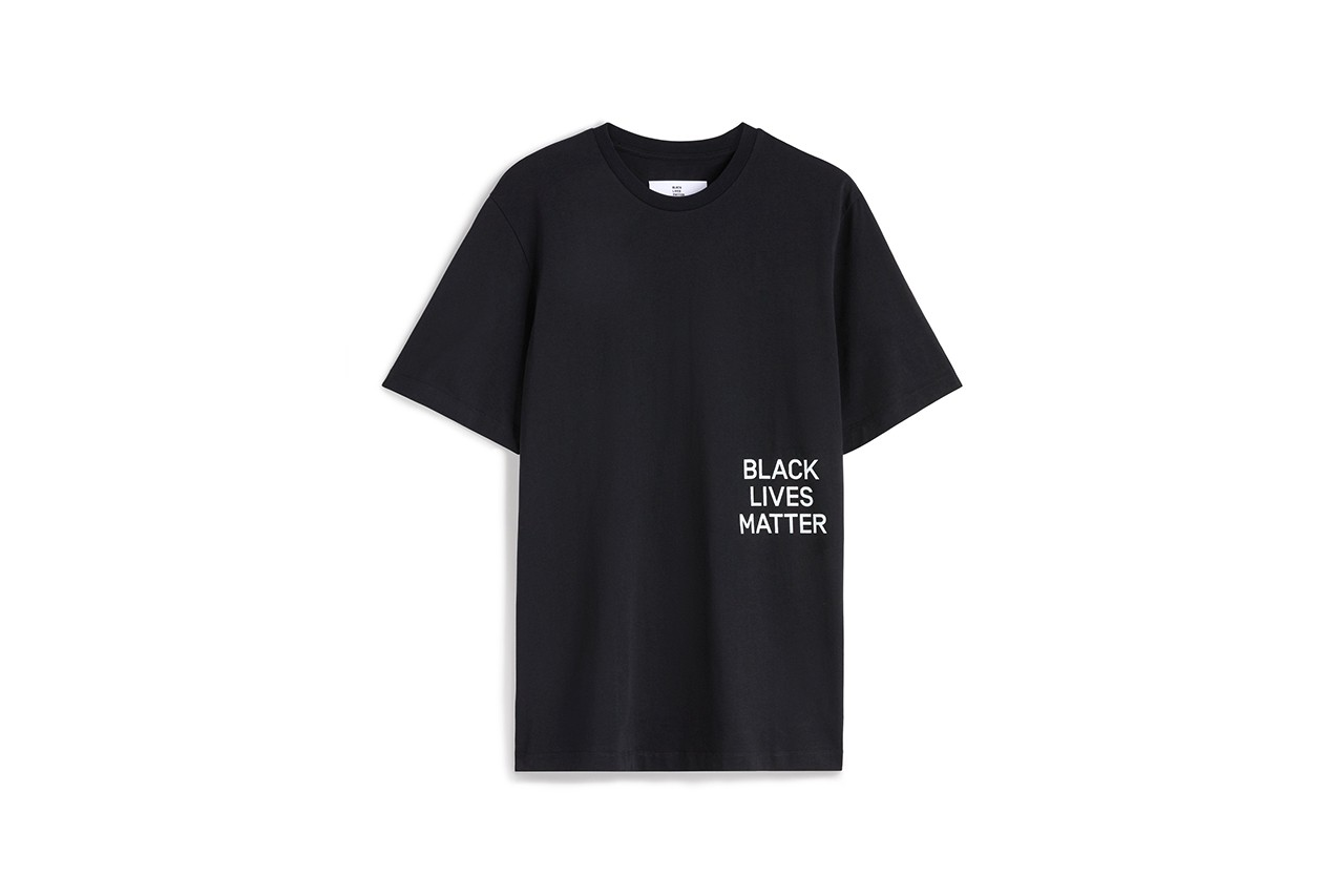 OAMC Black Lives Matter Fight Racism anti justice and equality menswear streetwear fall winter 2020 collection billboard campaign photography imagery black and white jacket t shirt