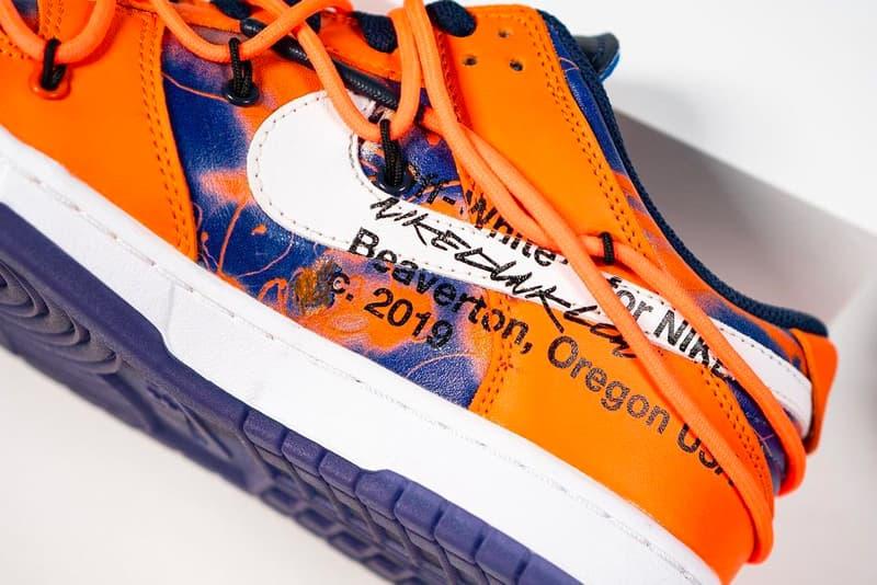 Off-White™ x Futura Nike Dunk Low On Foot Look Virgil Abloh Sneakers Kicks Nike Footwear sneakers kicks trainers sb FL  Futura Laboratories