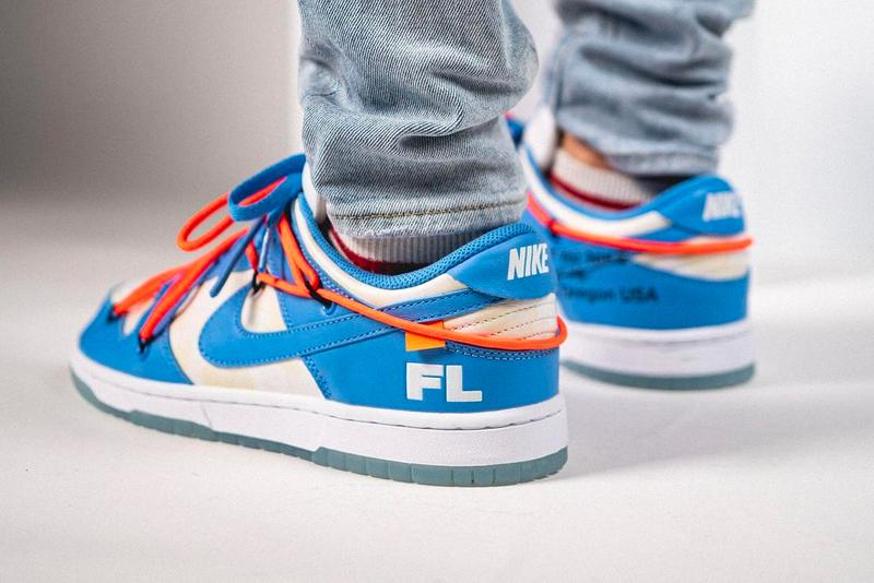 Off-White™ x Futura Nike Dunk Low On Foot Look Virgil Abloh Sneakers Kicks Nike Footwear sneakers kicks trainers sb FL  Futura Laboratories