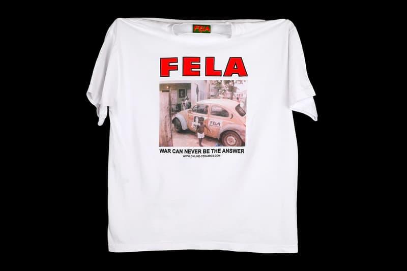 Online Ceramics Capsule Afrobeat Legend Fela Kuti tribute menswear streetwear t shirts long sleeves lps albums vinyl records nigerian african tote bag sticker waterbottle accessories