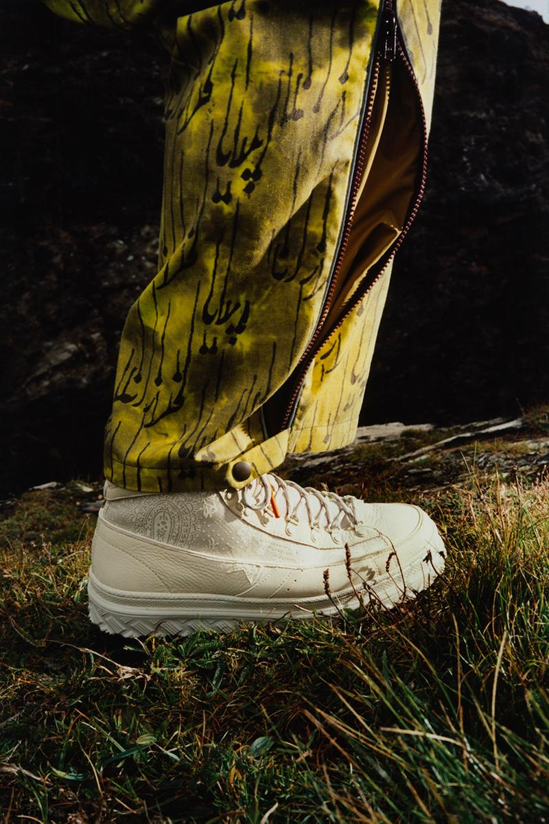 """Paria Farzaneh x Converse Pro Leather X2 London Fashion Week Presentation Show Runway """"Number 6"""" Collection Collaboration Sneaker Drop Date Release Information Iranian Inspiration Designs 3M Utility Basketball OG High Top Benji B Radio Live Outdoor"""