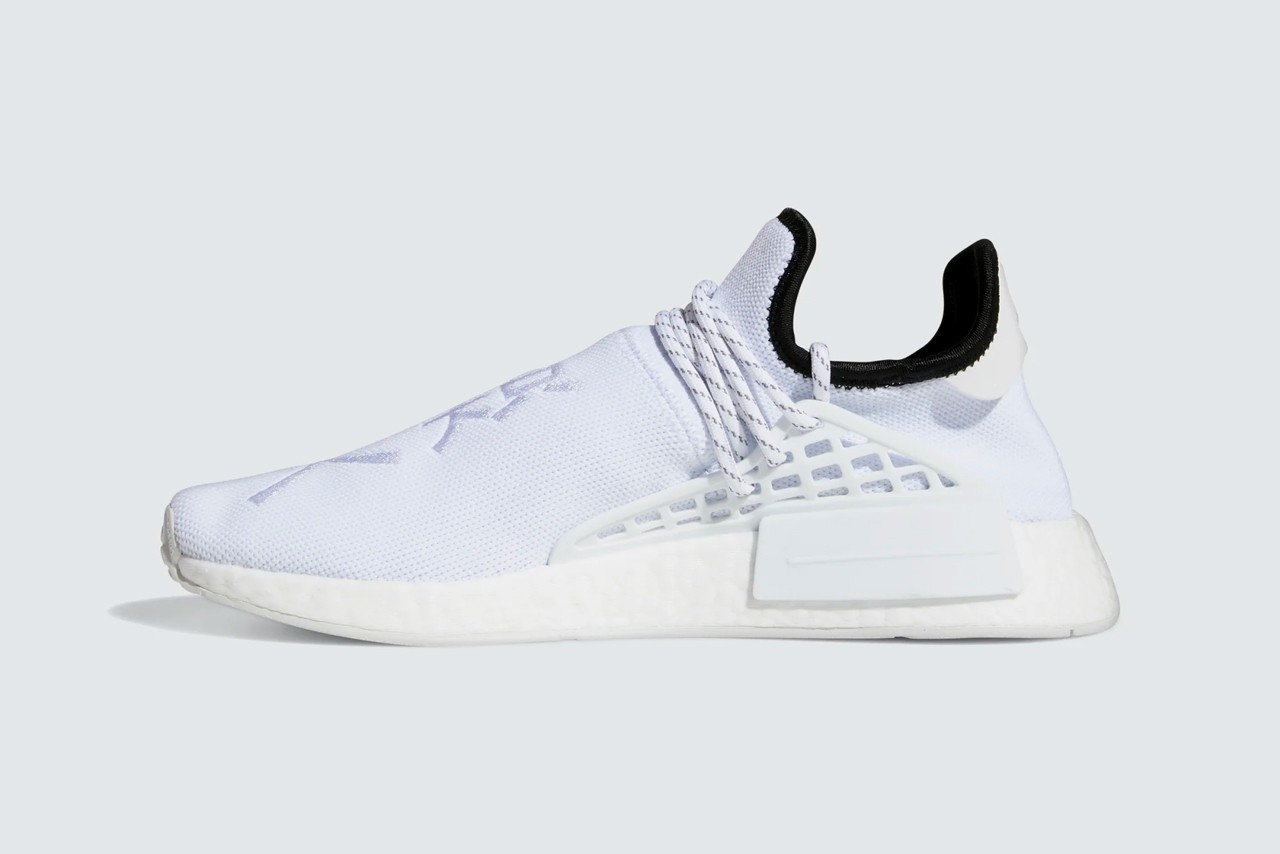 pharrell williams adidas originals nmd hu human race core white black GY0092 official release date info photos price store list buying guide