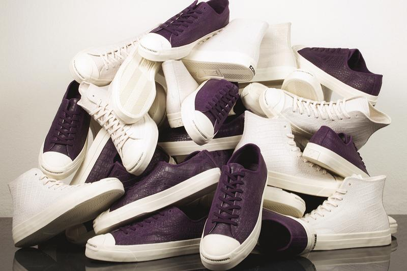 pop trading company converse cons jack purcell pro hi ox dragonskin dark purple white release information amsterdam