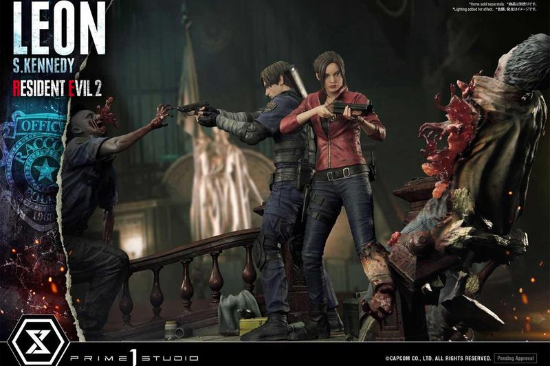prime 1 studio capcom resident evil 2 leon s kennedy claire redfield video game statue model collectible toy