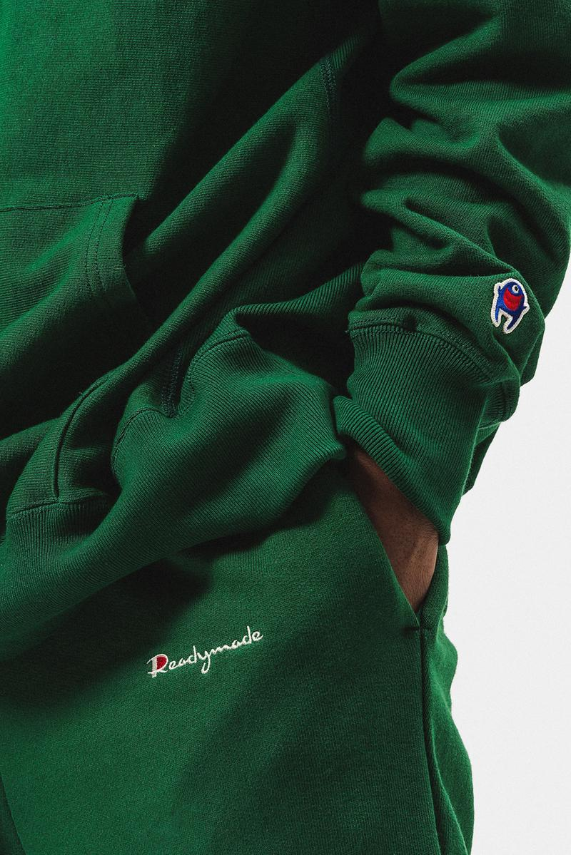 READYMADE FW20 Collection Editorial by HBX fall winter 2020 yuta hosokawa champion logo sweaters tee shirts