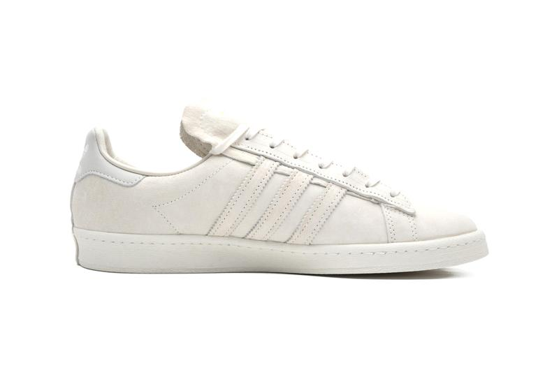 """RECOUTURE x adidas Originals Campus 80s """"Black/White"""" """"Beige"""" Suede Sole Unit Detailing Extended Deconstructed Collaboration Three Stripes Drop Date Closer First Look Release Information"""