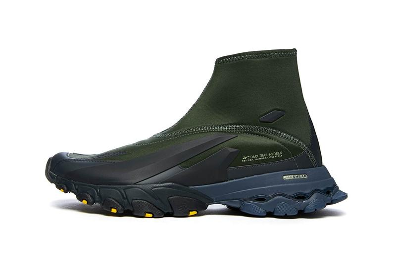 reebok dmx trail hydrex primal green gray fx7657 official release date info photos price store list buying guide