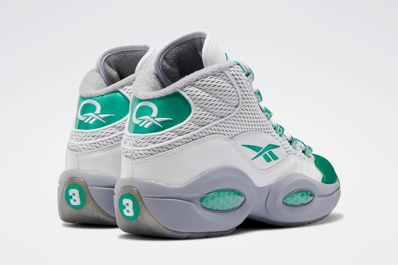 reebok question mid white court green cool shadow gray philadelphia eagles allen iverson FZ3993 official release date info photos price store list buying guide