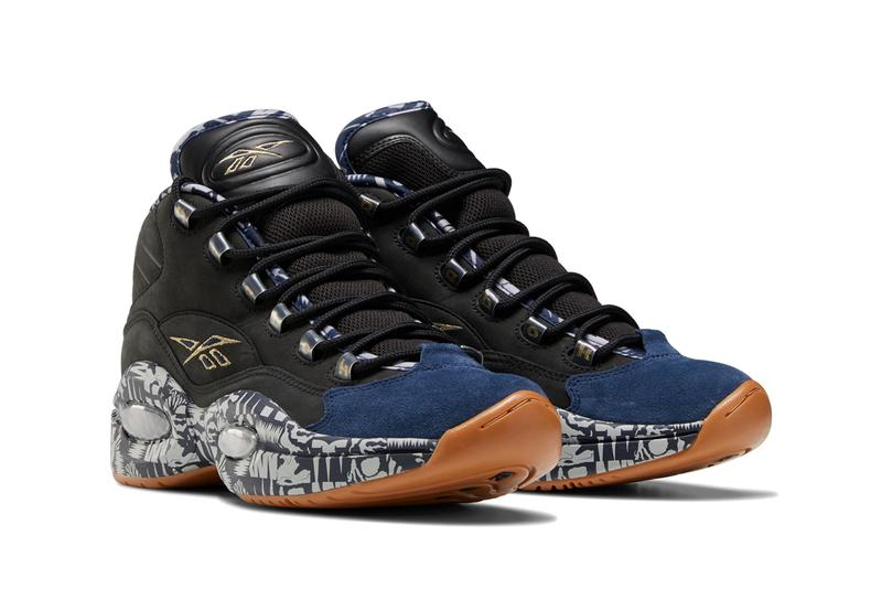 reebok question mid allen iverson classic black collegiate navy blue solid grey gum brown FX4991 official release date info photos price store list buying guide