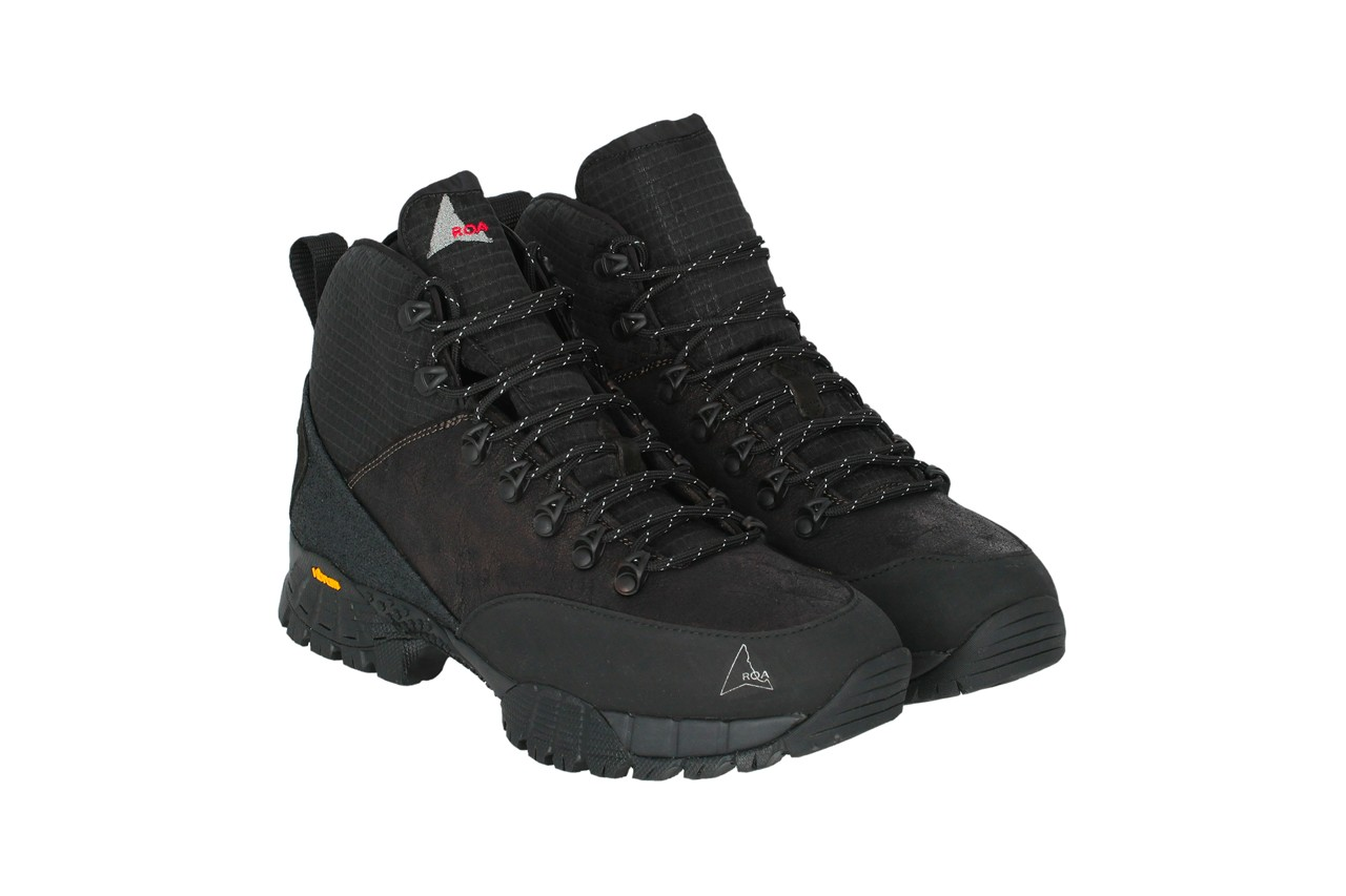 ROA Fall/Winter 2020 Collection Lookbook Drop Date Release Information Closer First Look Sneakers Italian Footwear Contemporary Hiking Shoes Boots Trainers Vibram Technical Black Daiquiri Minaar Teri Lhakpa