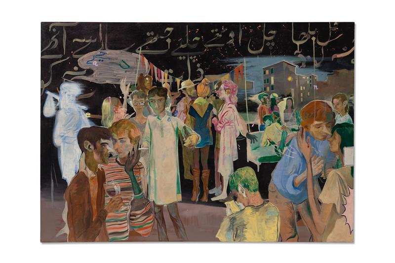 salman toor rooftop party with ghosts christies auction new york contemporary art sale