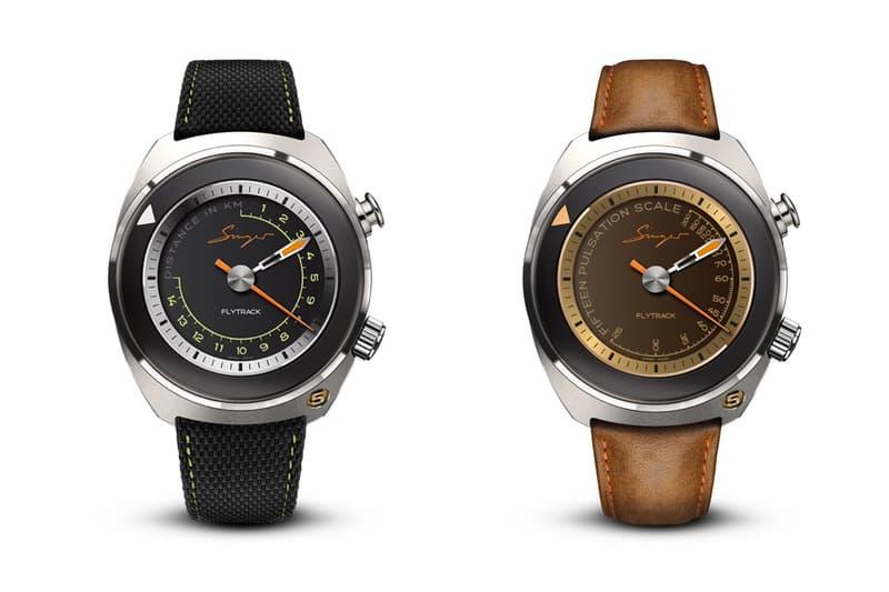 singer reimagined flytrack time only chronographs 60 seconds tachymeter telemeter pulsometer two hands