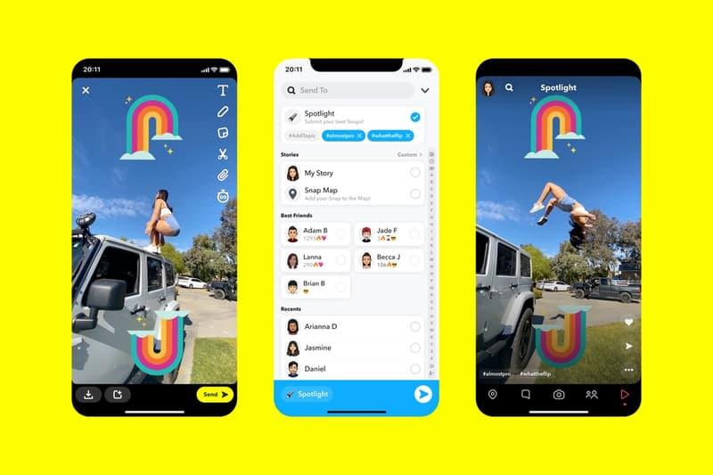 snapchat snap inc spotlight feature most entertaining posts 1 million usd award