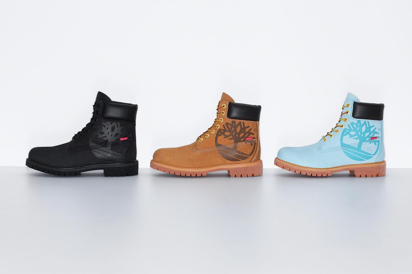 シュプリームがVFコープ傘下のティンバーランドとコラボ6インチブーツをリリース Supreme x Timberland Fall/Winter 2020 Collaboration 6-Inch Boots Release
