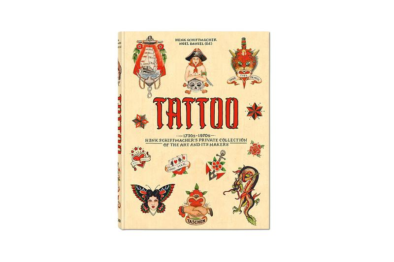 'TATTOO. 1730s-1970s. Henk Schiffmacher's Private Collection.' Book TASCHEN Coffee Table Study Pictures Literature Images Commentary Historical Design Flash Sheets