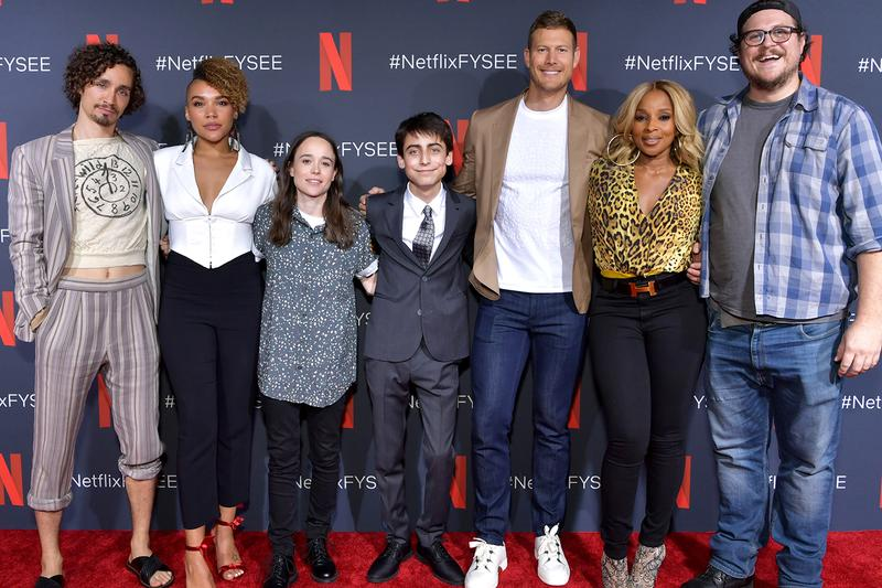 Netflix Renew The Umbrella Academy Season 3 three shows series tv superhero streaming episodes Robert Sheehan Ellen Page Emmy Raver-Lampman Tom Hopper David Castañeda Justin H Min Aidan Gallagher Ritu Arya Colm Feore