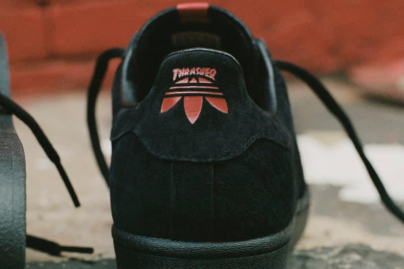 Thrasher x adidas Originals Superstar ADV Tyshawn Jones Signature Skateboarding Shoe Collaboration Release Information FY4583 Cloud White / Scarlet / Gold Metallic FY9025 Core Black / Scarlet / Gold Metallic