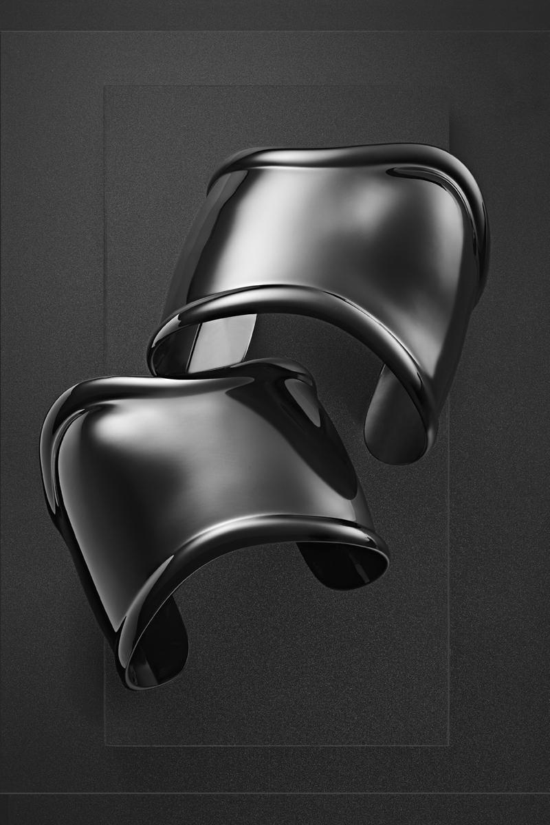 Tiffany & Co. and Elsa Peretti for Dover Street Market jewelry cuffs silver sterling black london new york singapore ginza los angeles japan release date info exclusive