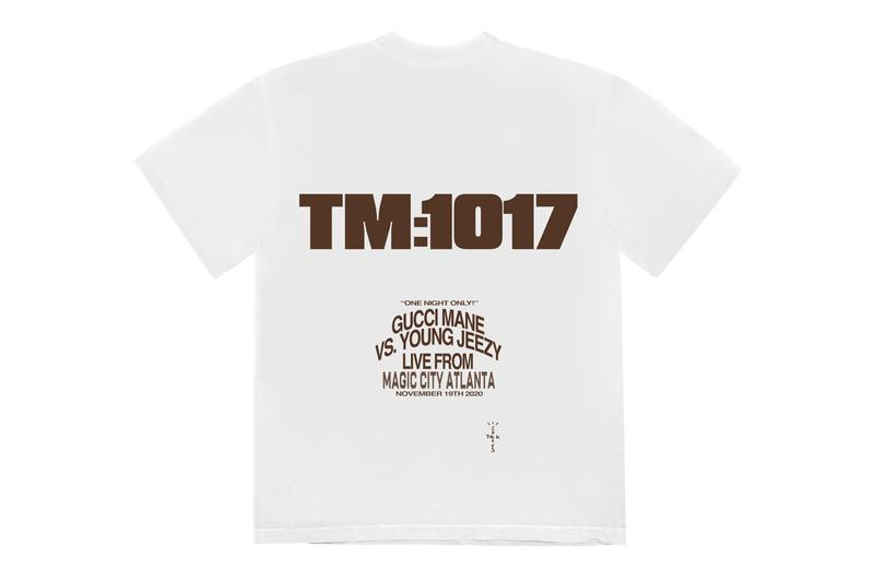 Travis Scott Cactus Jack for VERZUZ TM:1017 Gucci Mane Young Jeezy T shirt Release Info Date Buy Price 2005 ONE SIZE TALL TEE