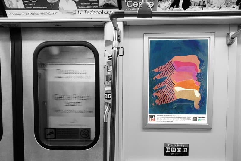 life on the line toronto subway art campaign