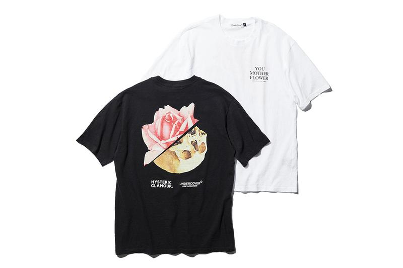 UNDERCOVER x HYSTERIC Glamour for BLACK SENSE MARKET collaboration tee shirt mother flower UCZ7805