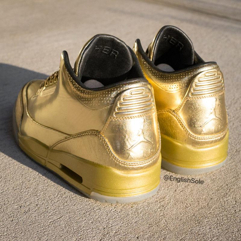 usher raymond air jordan brand 3 metallic gold pe sample 1 of 10 official release date info photos price store list buying guide 2014