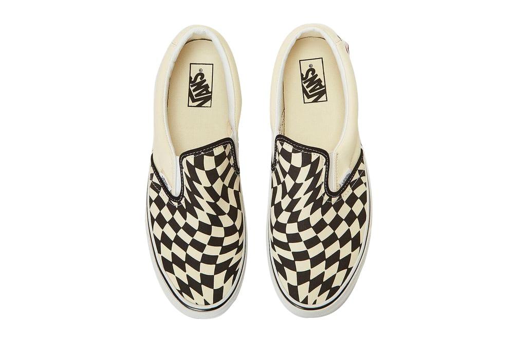 checkerboard vans slip