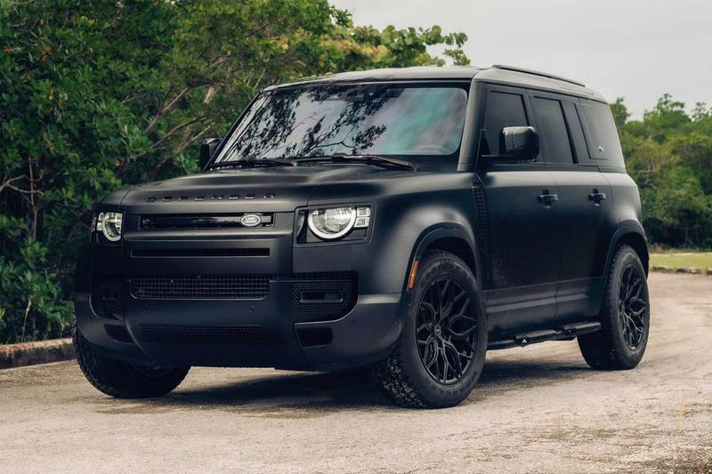 vossen wheels hybrid forged hf 2 aluminium land rover defender off road matte black wrap