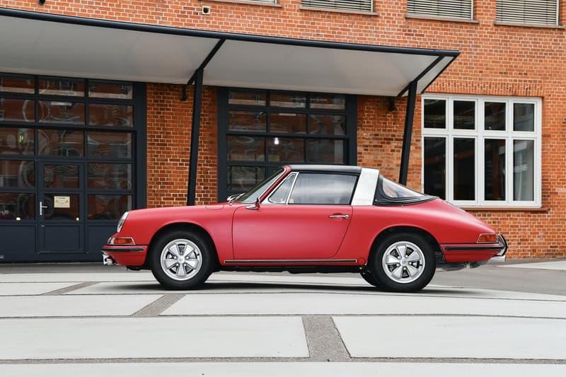"1967 Porsche 911 S Targa Restoration Full Rebuild Body Work ""Polo Red"" Matte Paint Job Fuchs Wheels Rims Chrome 2.0-Liter Six Cylinder Engine Classic OG Retro Restomod"