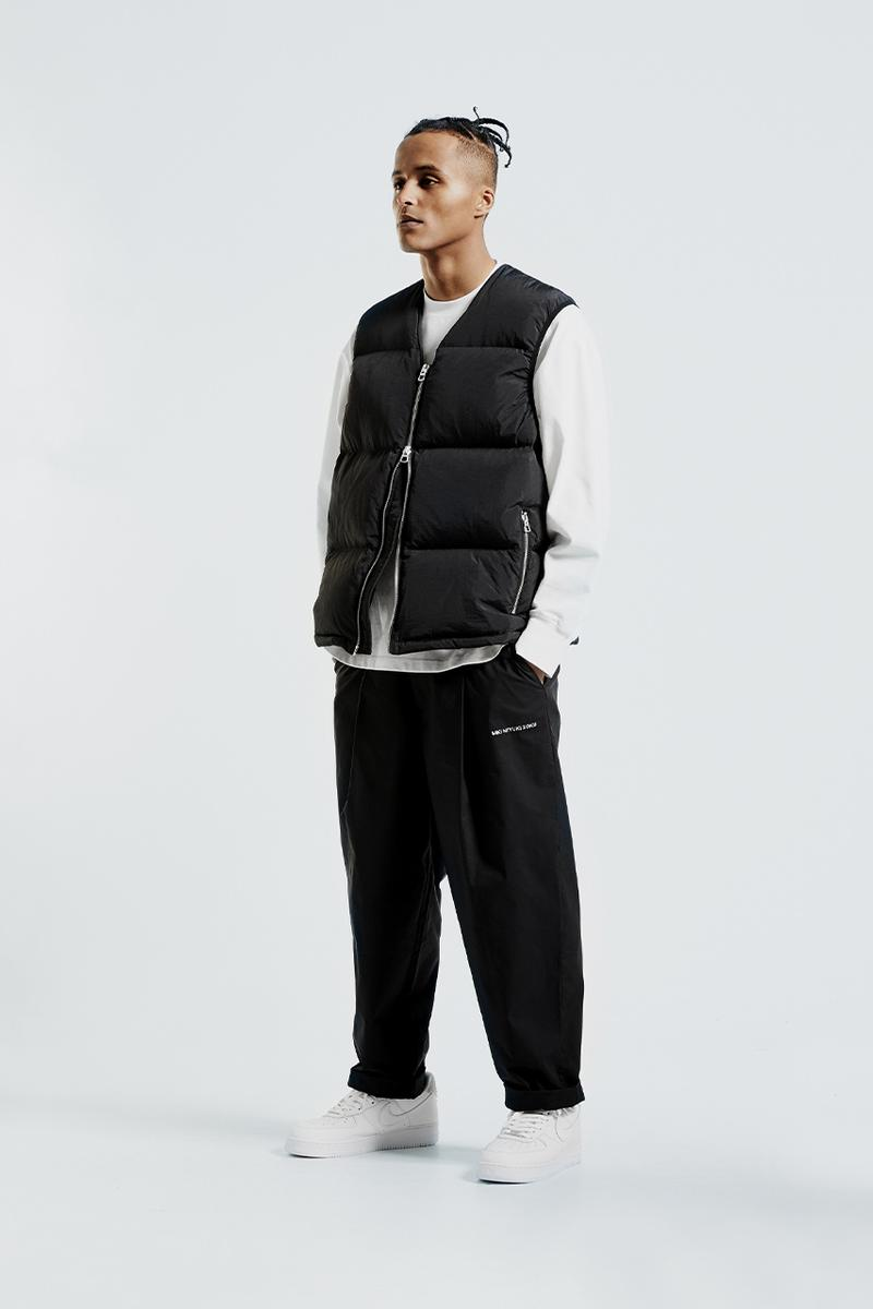 MKI fall winter 2020 padded down collection duck down outerwear crinkled nylon vest jacket liner