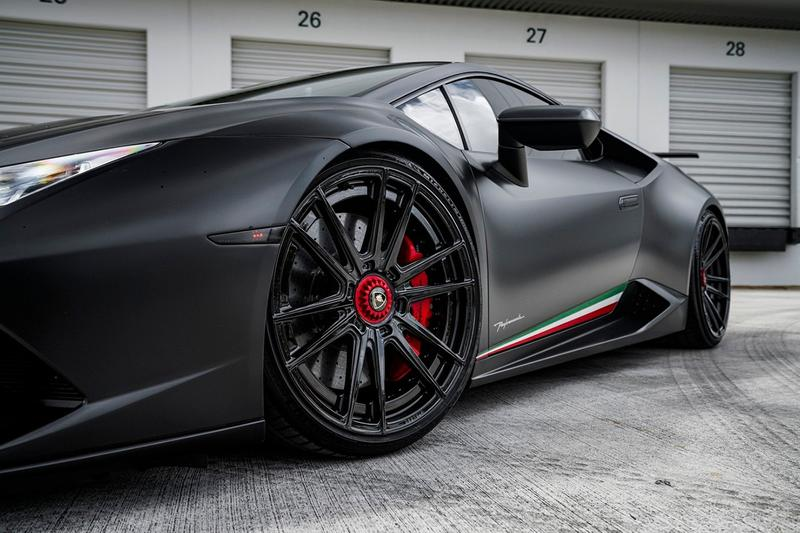 "Lamborghini Huracan Performante ""Nero Nemesis"" Custom Wheels, Twin-Turbocharger kit client strasse selfmade motorsports"