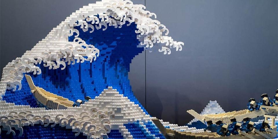 Japanese LEGO Master Recreates Hokusai's 'The Great Wave off Kanagawa'