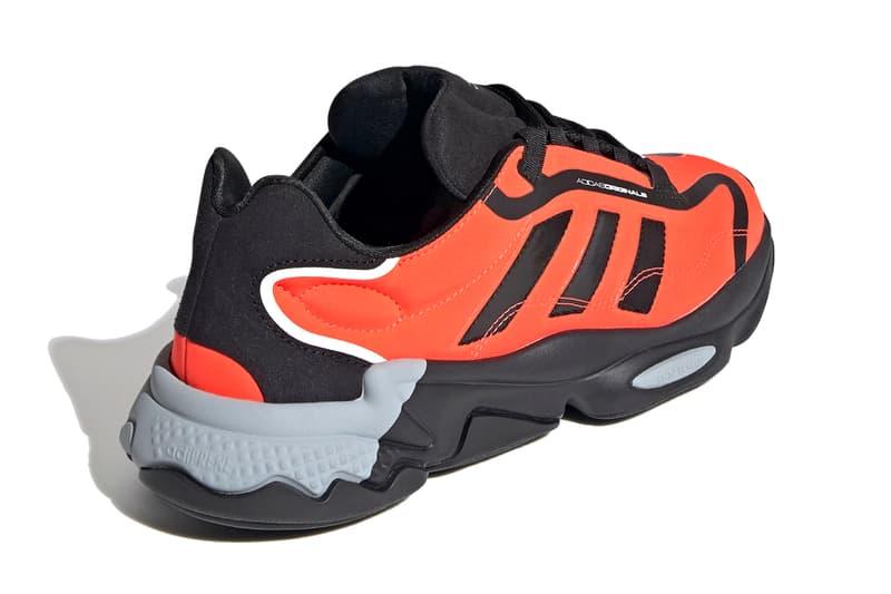 adidas originals ozweego pure shoes cloud white solar red