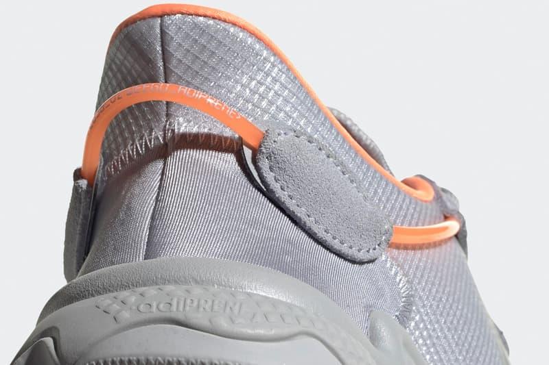 Adidas ozweego halo silver grey screaming orange gray sneaker release information