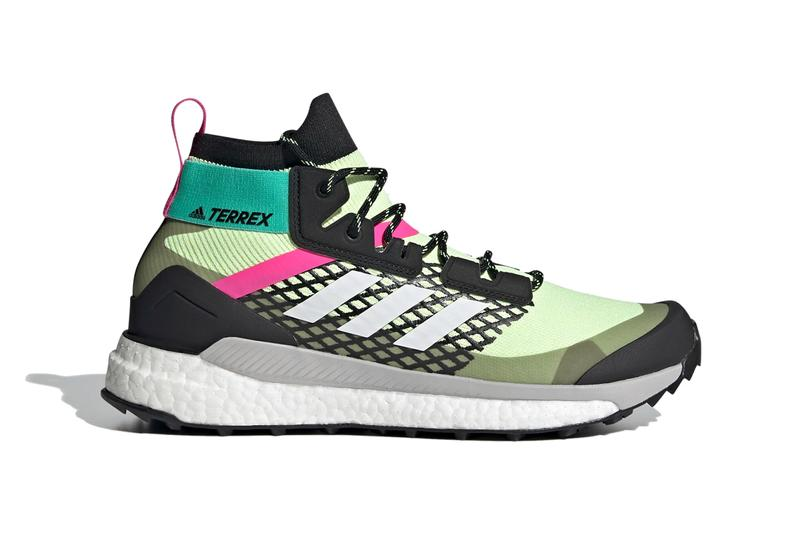 adidas terrex free hiker primeblue hi res yellow crystal white core black green pink FY7334 official release date info photos price store list buying guide
