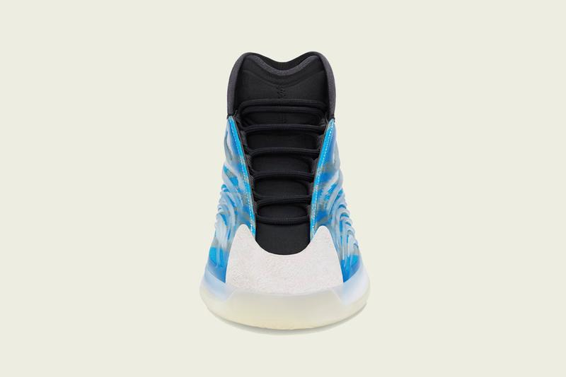"""adidas YEEZY BSKTBL QNTM """"Frozen Blue"""" Release Information Kanye West 700 V3 """"Azareth"""" Colorway Basketball Sneaker High Top Primeknit Ankle Support Drop Date Release Information Closer First Look Three Stripes Ye"""
