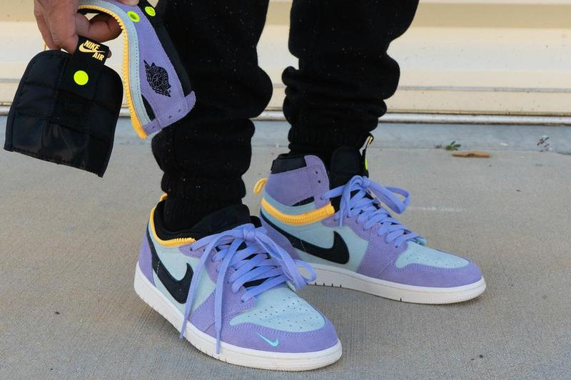 air jordan brand 1 high switch purple pulse glacier blue sail black CW6576 500 official release date info photos price store list buying guide