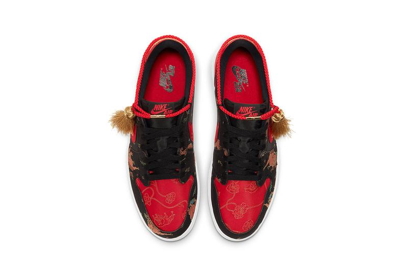 air jordan 1 low og chinese new year DD2233 001 year of the ox black red metallic gold white release info date photos pricing buying guide