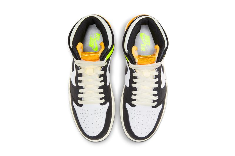 air jordan brand 1 volt gold white black 555088 118 official release date info photos price store list buying guide